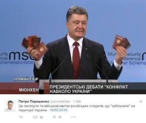 Wer mit solchen Idioten wie Poroschenko auch nur spricht, muss sich selbst als solchen von VIELEN auch bezeichnen lassen.