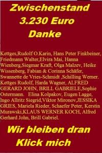 Stand 13.April  3.925,00 Euro HEUTE  Danke. die namentliche Aktualisierung erfolgt auch zeitnah.